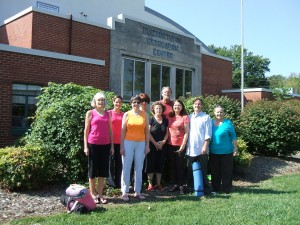 The First Yoga Students at Elizabethton Recreation Center w/ the Teacher