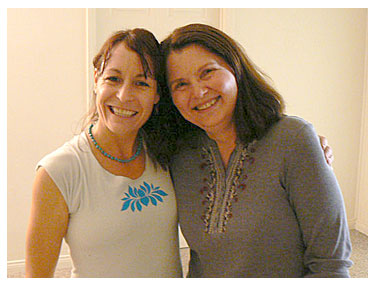 "Nicole Kintz is an Asheville-based yoga instructor well educated and versed in ""Alignment-based Yoga"". Pictured on right is Crystal our local expert."